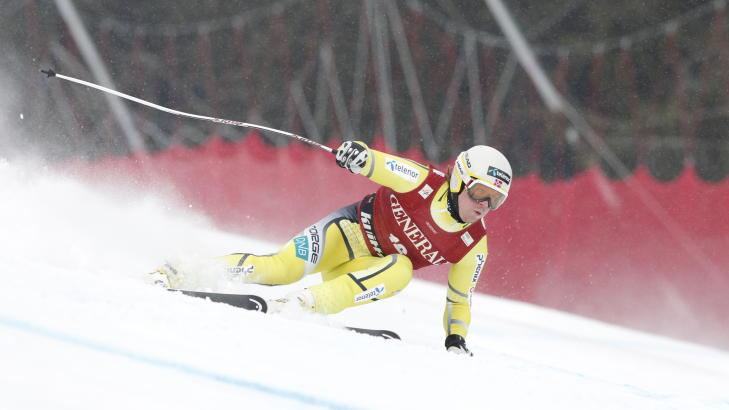 ENDELIG: Kjetil Jansrud kj�rte et suverent super-G-renn p� Kvitfjell og tok sin f�rste verdenscupseier etter stang ut i de to foreg�ende rennene.Foto: Stian Lysberg Solum / Scanpix
