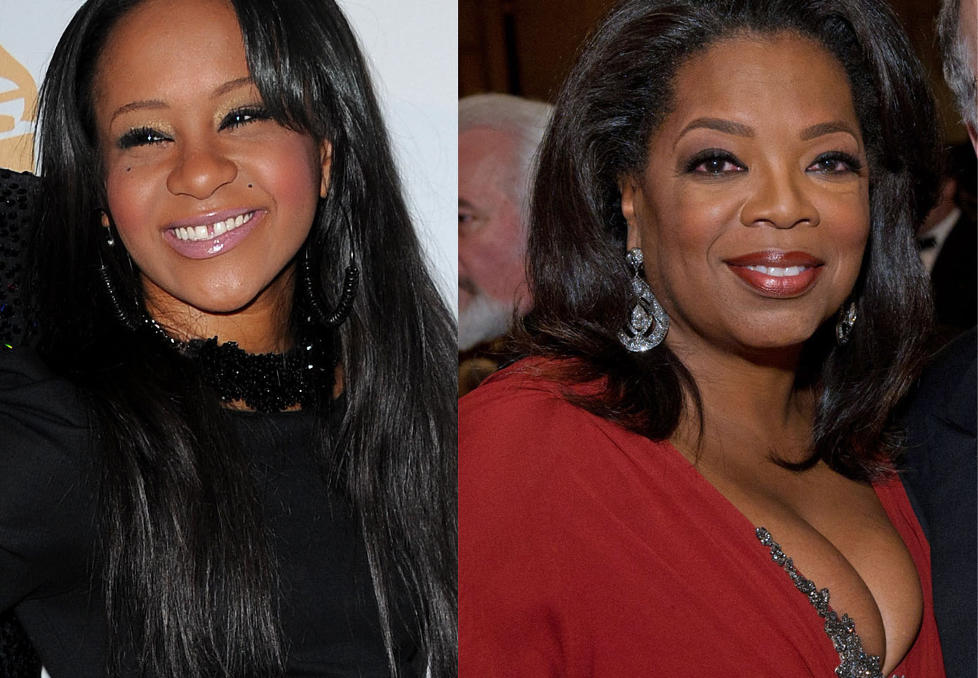 SNAKKER MED BOBBI KRISTINA: Oprah Winfrey fr det aller frste intervjuet med Bobbi Kristina Brown, etter at hennes mor, sangstjerne Whitney Houston, dde 11. februar i r. Foto: Stella Pictures