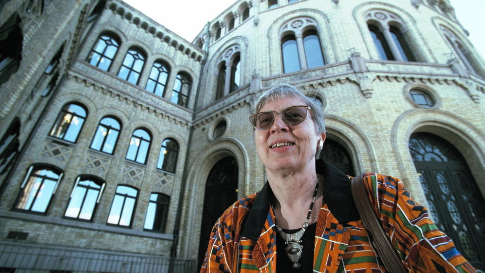 IKKE FORN�YD: Tidligere stortingsrepresentant og SV-politiker Torild Skard er ikke forn�yd med den skeive fordelingen av midlene i likestillingsarbeidet. Foto: TOR ARNE DALSNES / DAGBLADET