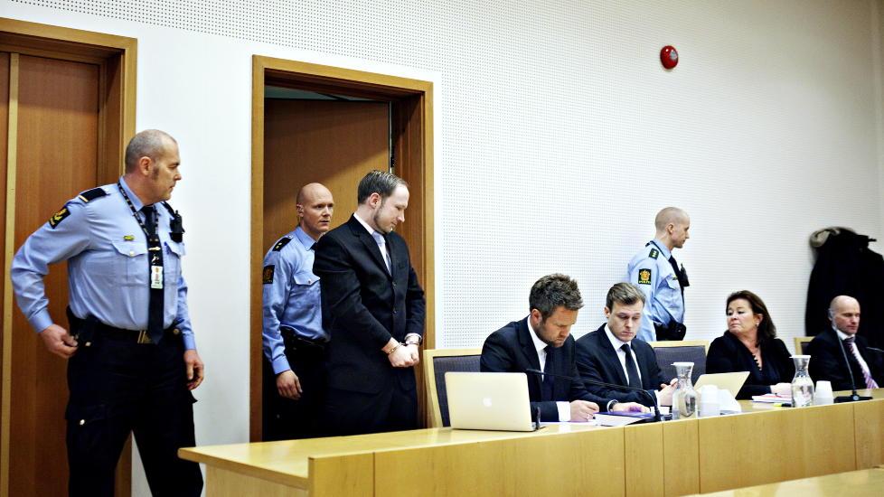 INGEN TV-OVERF�RING Breiviks forklaringer under rettssaken, TV-overf�res ikke. Foto: Nina Hansen / Dagbladet