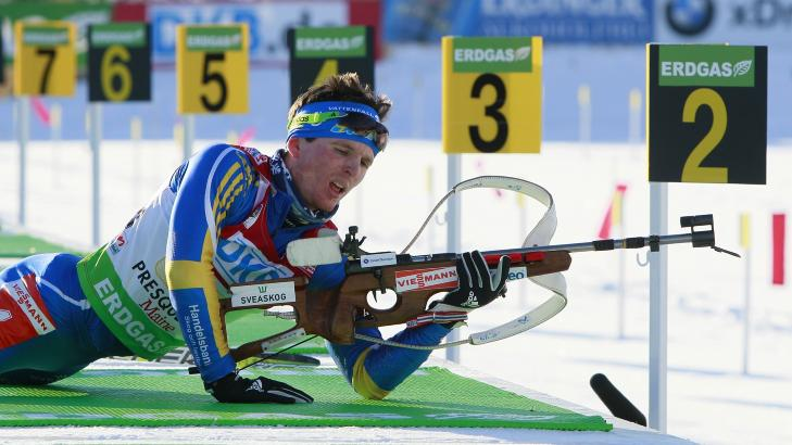 KOLLAPS: Hele ni bom ble det p� den svenske debutanten Ted Armgren. Foto: Robert F. Bukaty/AP/SCANPIX