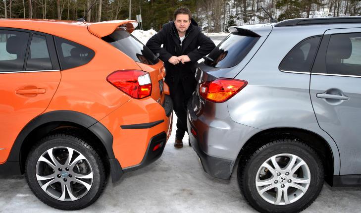VANSKELIG VALG: Begge de to kompakte SUV-ene er str�lende alternativer for Norge, men p� grunn av bedre komfort og mer kultivert motor trekker Subaruen det lengste str�et i v�r test. Foto: ANDREAS HANDELAND