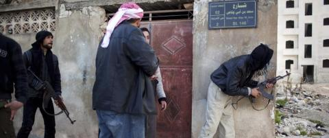 Fullt kaos blant de syriske oppr�rerne