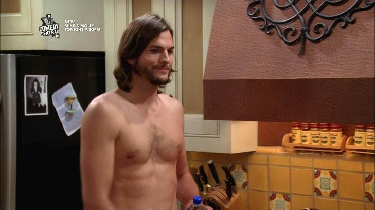 ALT FOR JOBBEN: Ashton Kutchers rolle i �Two and a Half Men� krevde et ustelt ansikt. N� har derimot Kutcher gitt slipp p� skjegget. Foto: Stella Pictures