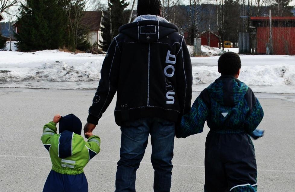PAPPAGUTTER: - De er veldig knyttet til faren sin. De er gutter, ser opp til ham, leker, spiller fotball. De trenger faren sin, sier Susanne om sine to s�nner.