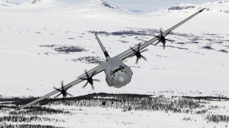 TROLIG STYRTET: Letemannskapet kan i kveld ha funnet havaristedet i fjellomr�det, men skjebnen til besetningen er enn� ukjent. Her et Hercules-fly av samme type som havaristen.