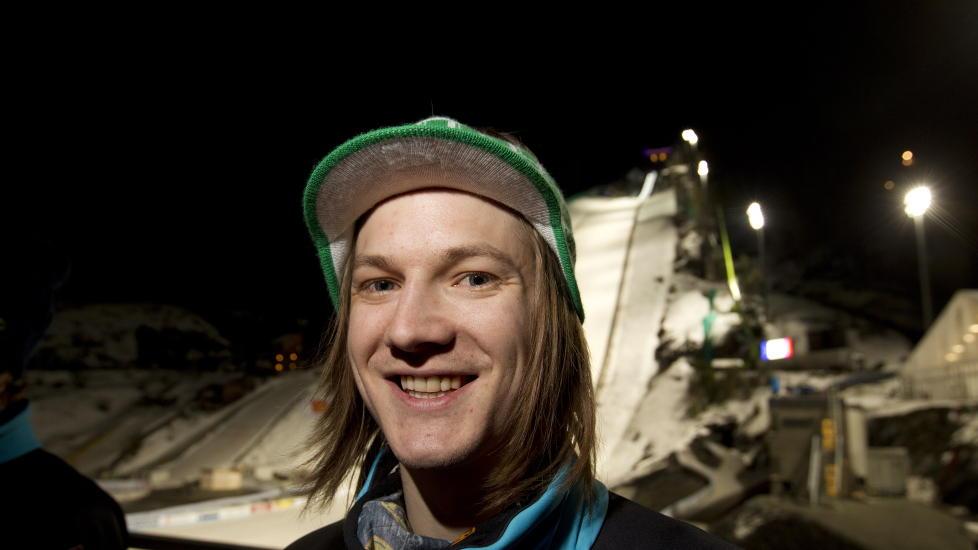 UNGKAR: Hopperen Tom Hilde sier til Dagbladet at han ikke er p� fl�rter'n med slovensk TV-reporter. Foto: Terje Bendiksby / Scanpix
