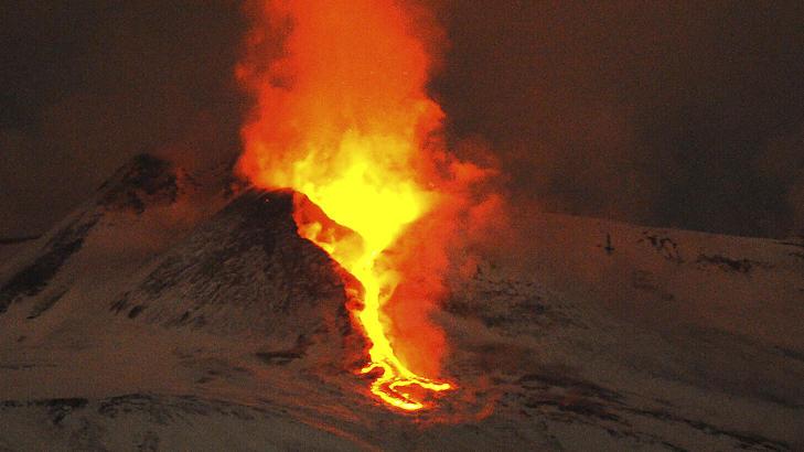 vi snakker om vulkaner på russisk