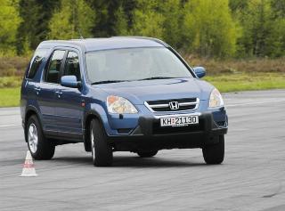 HONDA CR-V: En popul�r bil med godt rykte, og dermed er det mange biler med h�y kj�relengde i denne prisklassen.