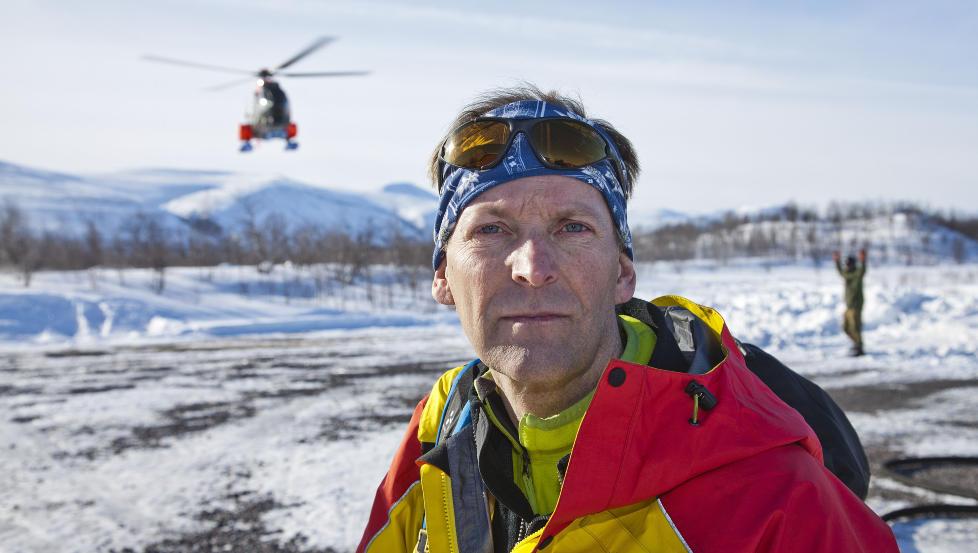EKSPERT: Fjellredningsmannen Anders Bergwall hentes inn for � sikre de som leter etter vrakdeler og levninger. Foto: Per Fl�the/Dagbladet