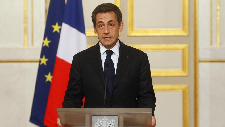 FORD�MMER ANGREPENE:  Frankrikes president, Nicolas Sarkozy, inviterte for kort tid siden til pressekonferanse hvor han orienterte om den kritiske situasjonen og angrepene i Toulouse. Foto: Francois Maro / Ap Photo