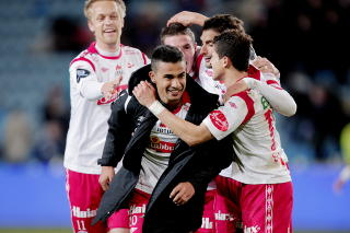 MULIG GJENNOMBRUDDSMANN: Fredrikstads Etzaz Hussain (19). Foto: Stian Lysberg Solum / SCANPIX