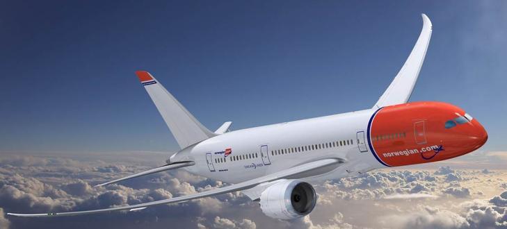 I LUFTA: Skroget p� Dreamlineren er bygget av karbonkompositt som er lettere og sterkere enn aluminium som fly normalt er bygd av i dag. Illustrasjon: BOEING/NORWEGIAN