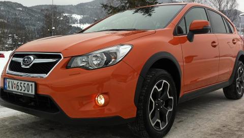 GJERRIG 4WD: Den nye Subaru XV er per mars 2012 den firehjulsdrevne bilen som har brukt minst drivstoff i v�re tester.