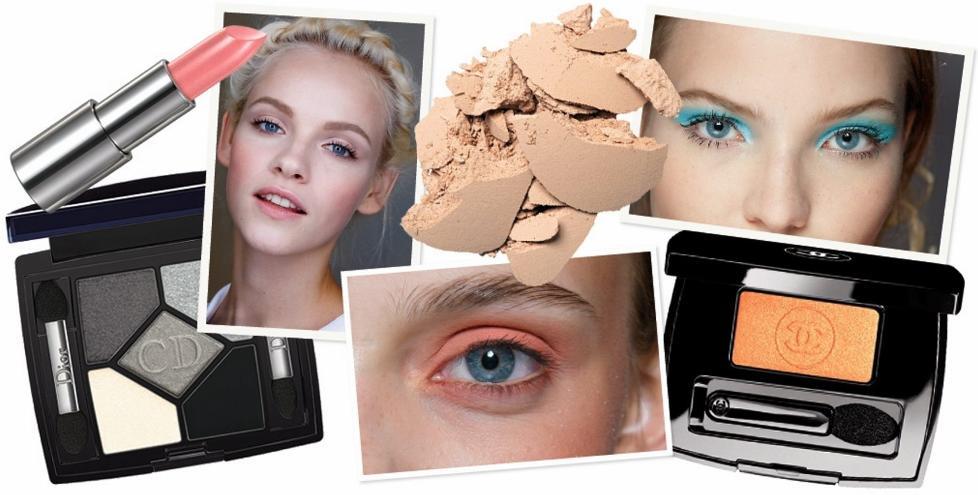 SKJ�NN V�R: De fem viktigste makeuptrendene denne v�ren. De fem viktigste makeuptrendene denne v�ren. Se hvilke produkter du trenger for � f� v�rens mest trendy makeup. Foto: Catwalkpix/produsenten