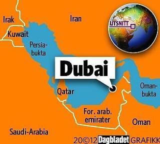 DUBAI: Her ligger Dubai. Grafikk: KJELL ERIK BERG