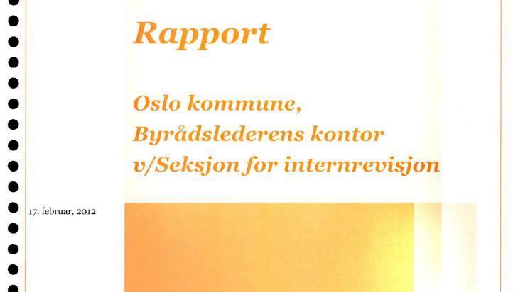 NY RAPPORT: En ny rapport fra PricewaterhouseCoopers (PWC) fast at Oslo kommune mangler kontroll p� l�nns- og arbeidsforhold i bedriften.