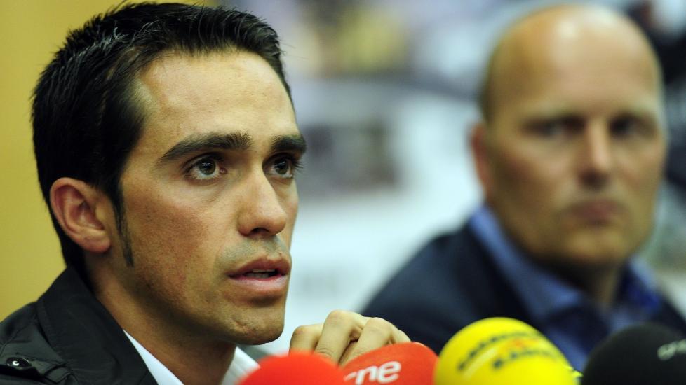 DROPPER SIVIL ANKE: Alberto Contador har mistet all tro p� rettsapparatet, og skrinlegger alle tanker om � anke dommen fra CAS. Foto: AFP PHOTO / JAVIER SORIANO