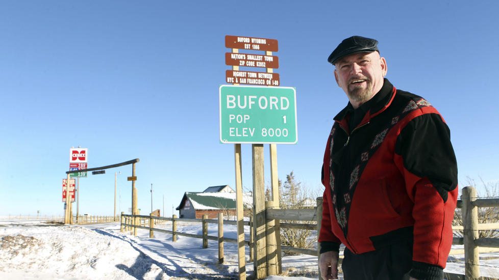 HAR BODD ALENE: Don Sammons har bodd alene i Buford etter at kona d�de og s�nnen flytta. Foto: AP/Wyoming Tribune Eagle, Michael Smith/NTB Scanpix