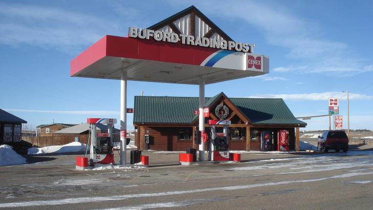 RIKT N�RINGSLIV: Den kombinerte bensinstasjonen og n�rbutikken Buford Trading Post overtas n� av den anonyme kj�peren. Foto: REUTERS/Williams&Williams/Handout/NTB Scanpix
