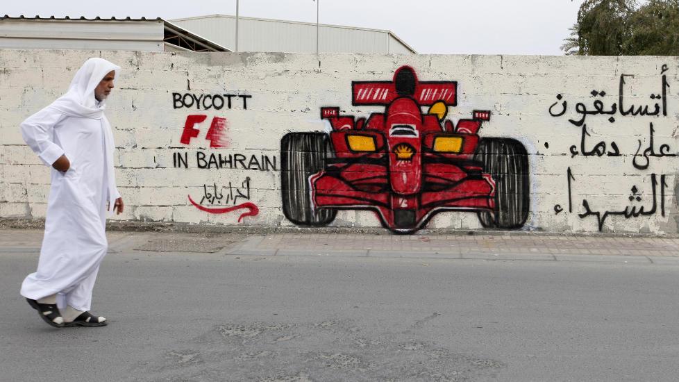 URO: Tidligere verdensmester Damon Hill er blant dem som har bedt formel 1-sjefene vurdere � avlyse Bahrain Grand Prix.Foto: SCANPIX/REUTERS/Hamad I Mohammed