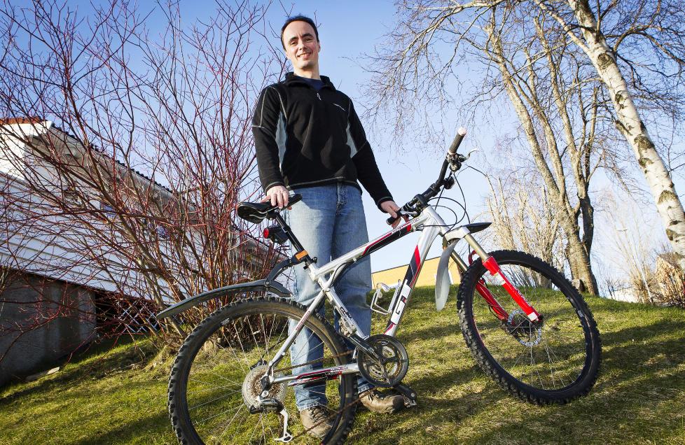 TILBAKE: Odd Sigurd Refsn�s' kj�re sykkel er igjen hjemme p� Singsaker i Trondheim. Foto: OLE MORTEN MELG�RD / DAGBLADET