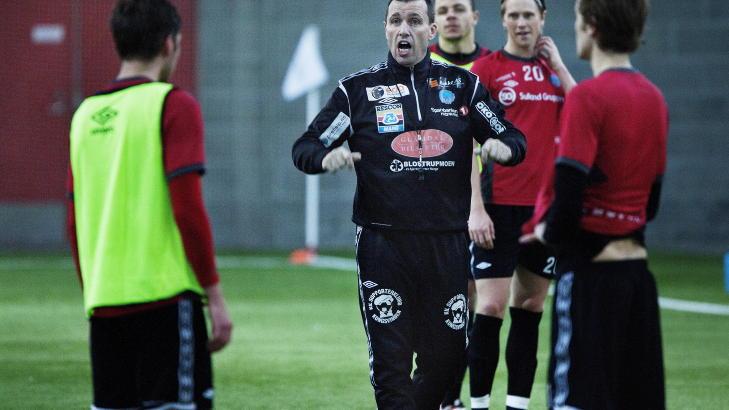 LOKALOPPGJ�R: Tom Nordlie og Kongsvinger fotballklubb st�r med tre strake seire i 1. divisjon. I morgen m�ter de HamKam.  Foto: Jo Straube / Dagbladet