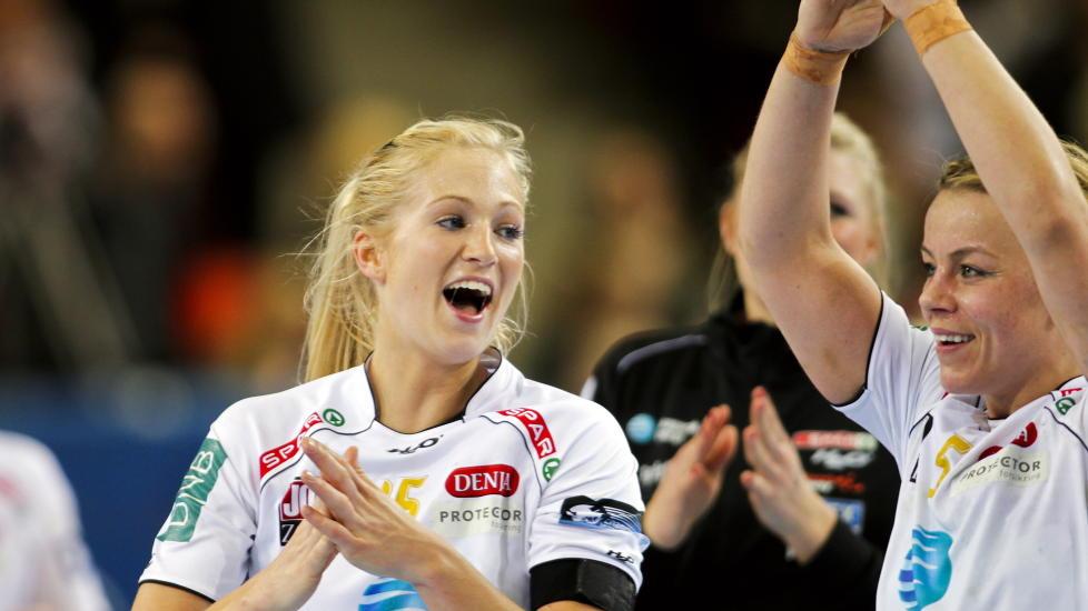 TOPPSCORER: Linn J�rum Sulland ble toppscorer for Larvik som knuste By�sen i finalen l�rdag. Foto: Fredrik Varfjell / Scanpix