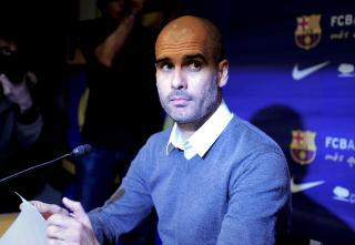 TAR SEG FRI: Guardiola sa p� pressekonferansen at han kommer til � ta seg fri en periode f�r han tar en ny jobb senere. Foto: AFP Photo/ Josep Lago / NTB Scanpix