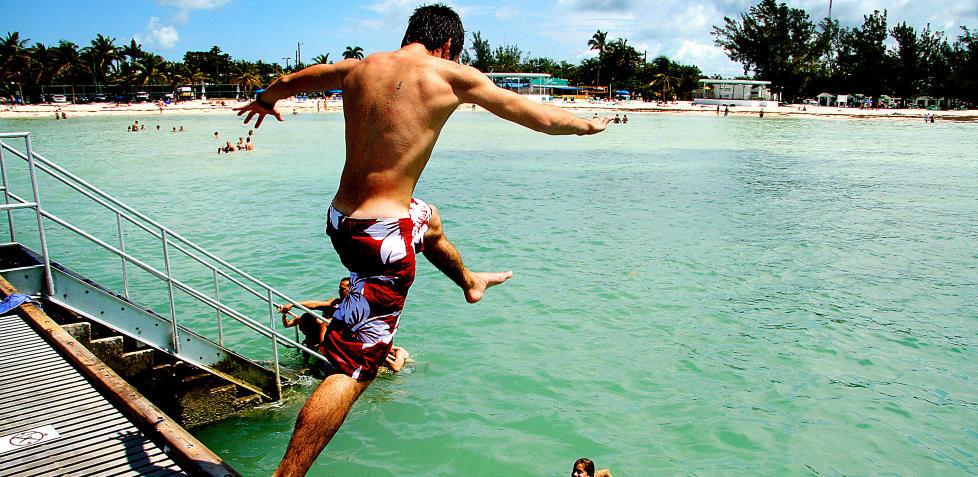 FLORIDA: Badeferie p� de langgrunne strendene i Key West. Alle foto: KIRSTEN M. BUZZI