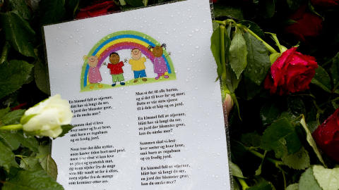 Barn av regnbuen: Flere utenlandske medier skrev om torsdagens rosetog p� Youngstorget og ved tingretten i Oslo.  Foto: John T. Pedersen / Dagbladet