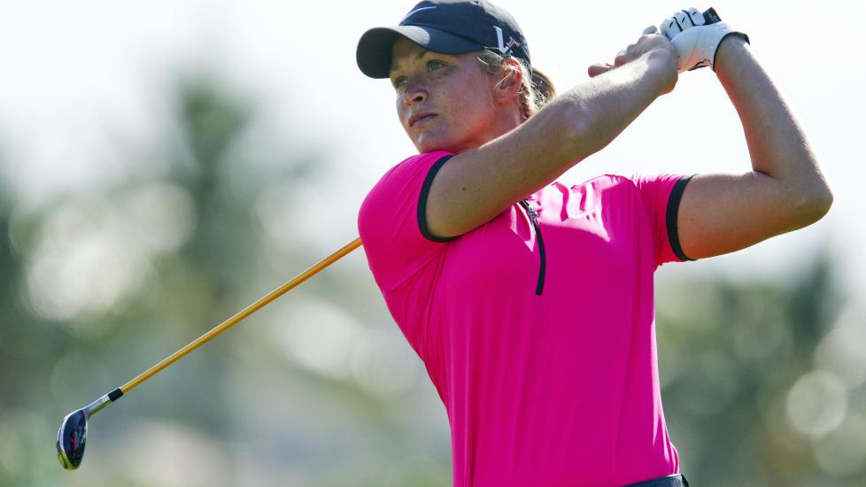 BEDRE: Suzann Pettersen har bedret spillet sitt etter svak start i Alabama. Foto: AP Photo/Eugene Tanner