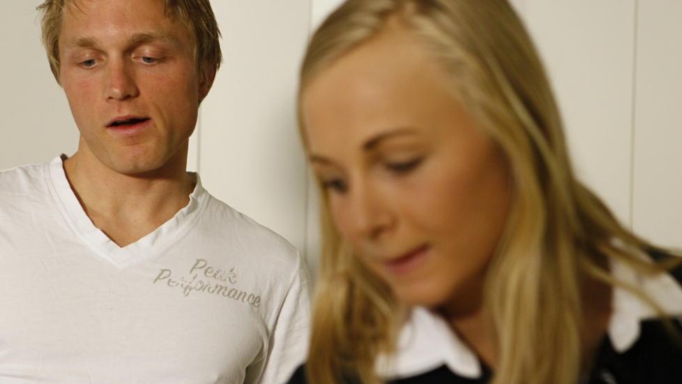 BRA GJORT: S�sknene Hege og H�vard B�kko hadde mot til � komme tilbake til landslaget. Det er bra gjort. FOTO: Heiko Junge / NTB Scanpix.