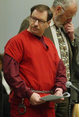 GARY RIDGWAY:  En av de verste seriemorderne i USAs historie. Ble i 2003 d�mt for drap p� 49 kvinner. Mordene ble beg�tt tidlig p� 80-tallet, men Ridgway ble f�rst arrestert i 2001, takket v�re nye DNA-metoder. Foto: Elaine Thompson / Reuters / NTB Scanpix