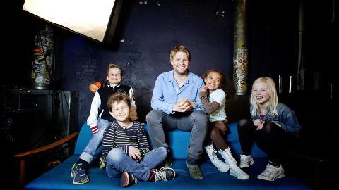 HAR BYTTET KANAL:  Kjendisbarnevakten har premiere p� TV3 til h�sten med H�vard Lilleheie som programleder. I fjor gikk programmet p� NRK. Her med Alexander, Trym, Leona og Tiril, som er barna som skal gi de ulike kjendisbarnevaktene poeng. Foto: Bj�rn Langsem / Dagbladet.