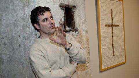 VISKUM: Morten Viskum er kjent for sin utradisjonelle kunst. Foto: Torbj�rn Berg