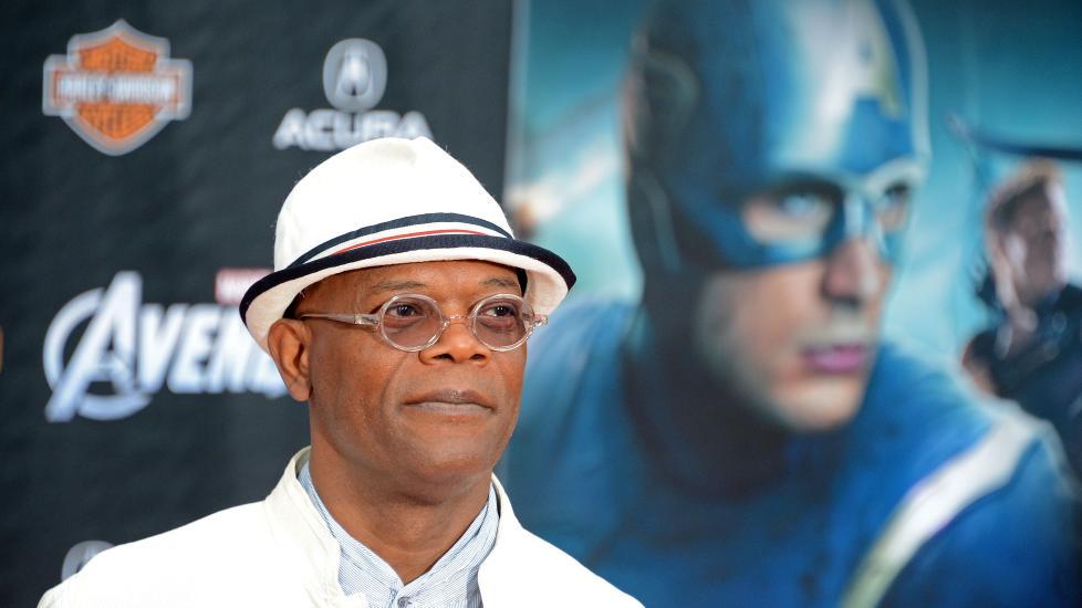 TIL MOTM�LE: Samuel L. Jackson har lite til overs for den ene anmelderen som slaktet �The Avengers�. Foto: Scanpix/AFP PHOTO / Robyn Beck