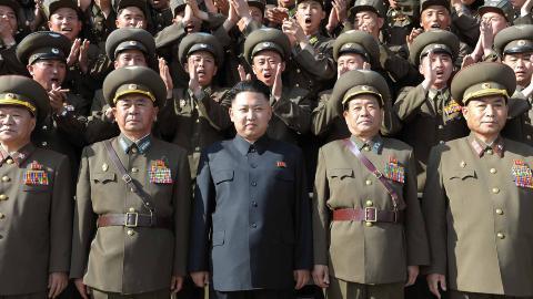 NEKTER FOR AT LEIRENE FINNES: Nordkoreanske myndigheter fortsetter � nekte for at de beryktede fangeleirene finnes. Foto: AFP PHOTO / KCNA / KNS