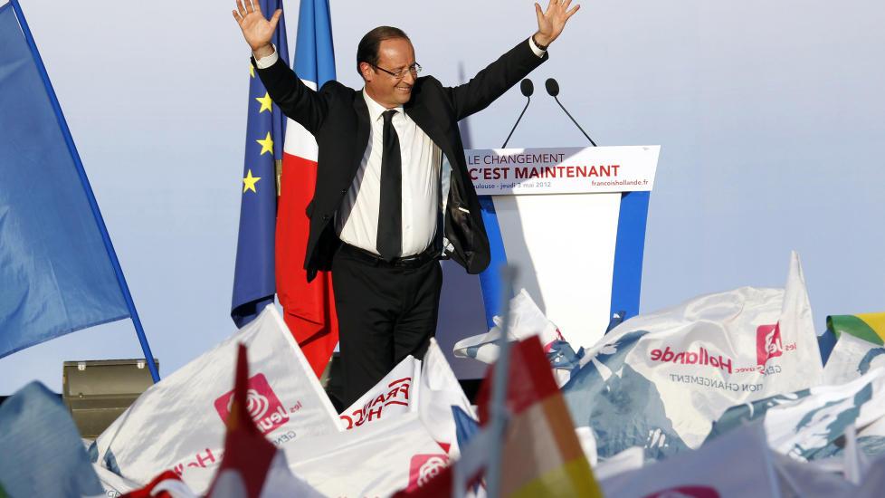 Valgdagsmålinger gir Hollande seieren i Frankrike ...
