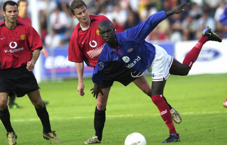 FRA 2002: Manchester United og Ole Gunnar Solskj�r vant 2-1 sist de var i Norge og m�tte V�lerenga, for ti �r siden.  Foto: Cornelius Poppe/Scanpix