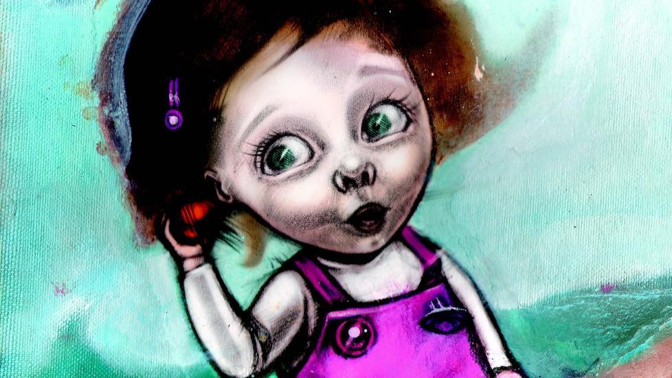 TEKSTDEBUT: Line Halsnes har illustrert mange barneb�ker. N� debuterer hun med b�de tekst og bilder i sin egen bok, �Stakkars lille hjerte�. Illustrasjon: FRA BOKA