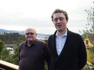 TRENINGSLEIR:  Jiri Hlinka og den svenske studenten Daniel Beskow. FOTO: TERJE  MOSNES