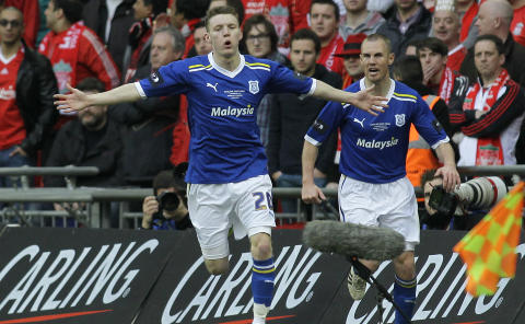 FINALE-TAP: Cardiff tapte ligacupfinalen mot Liverpool tidligere i �r. Foto: AP Photo/Sang Tan