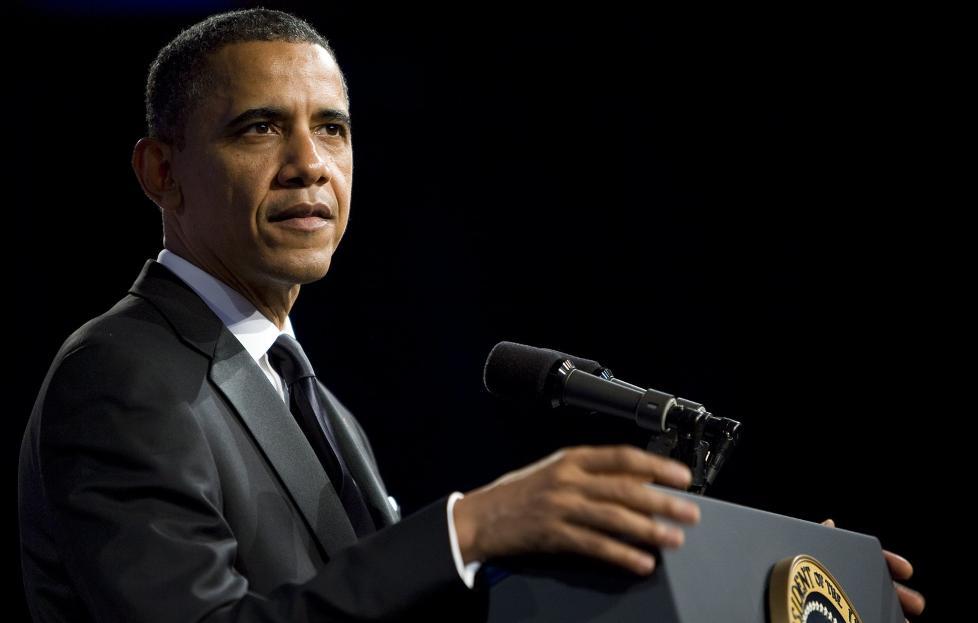 UTE AV TENKEBOKSEN: En overraskende klar uttalelse fra visepresident Joe Biden p� s�ndag, ble i dag fulgt av en krystallklar Obama. Foto: KRISTOFFER TRIPPLAAR / EPA / NTB SCANPIX
