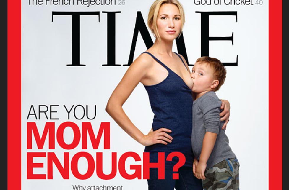 VEKKER OPPSIKT: Coveret p� siste nummer av Time Magazine skaper ny ammedebatt. FAKSIMILE: Time Magazine