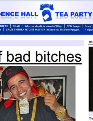 Publiserte bilde av smilende Obama med gullklokker, caps og armtatovering