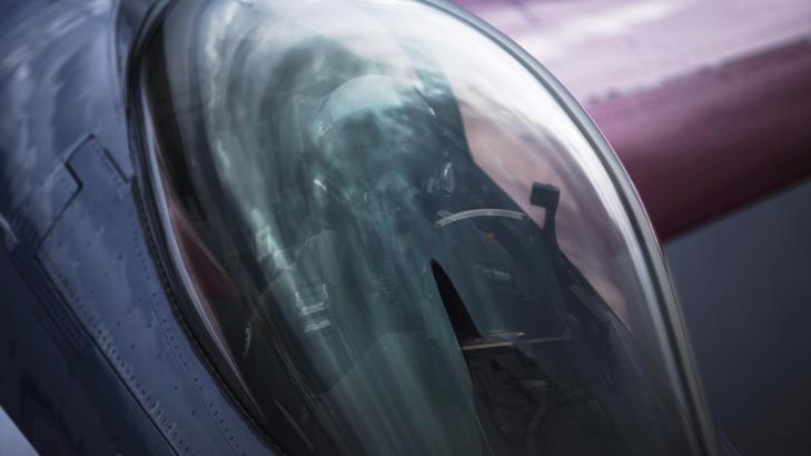 JUBILEUMSFARGER:  F16-maskina er nylakkert i jubileumsfarger. Dette var den f�rste turen med de nye fargene. Foto: Forsvarets mediesenter / Ole Gunnar Henriksen Nordli