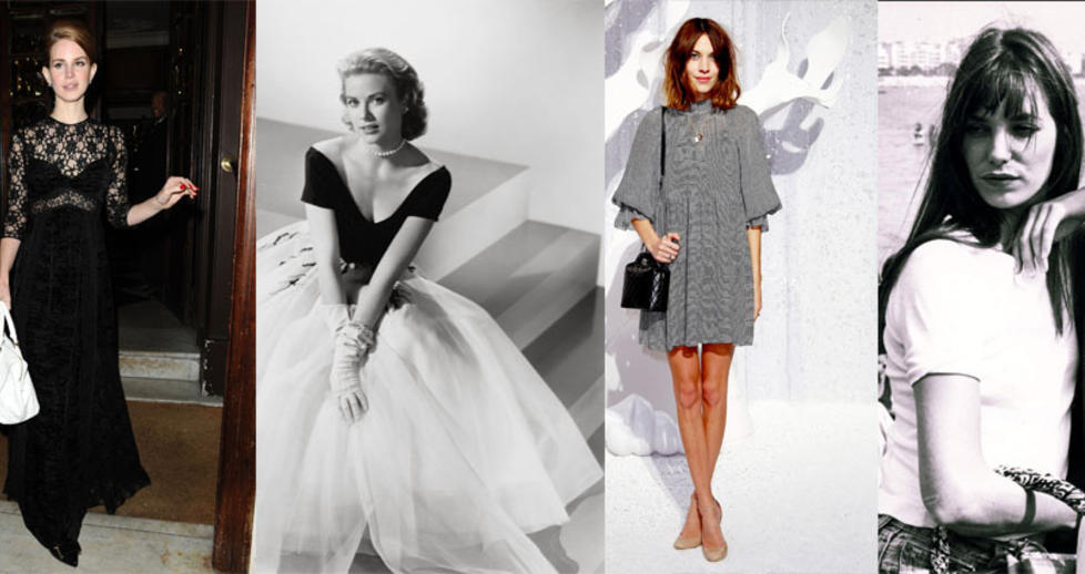  LNT BORT NAVNET SITT:  Grace kelly, Alexa Chung og Jane Birkin (t.h.) har alle lnt ftt vesker oppkalt etter seg. N har Lana Del Rey (t.v.) blitt gjort den samme re p. Foto: Stella Pictures