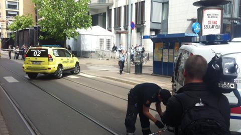 TROLIG NORSK:  Innsatslederen opplyser om at politiet tror mannen er norsk stasborger, men de er forel�pig usikker p� bakgrunnen hans. Foto: Sindre Granly Meldalen / Dagbladet