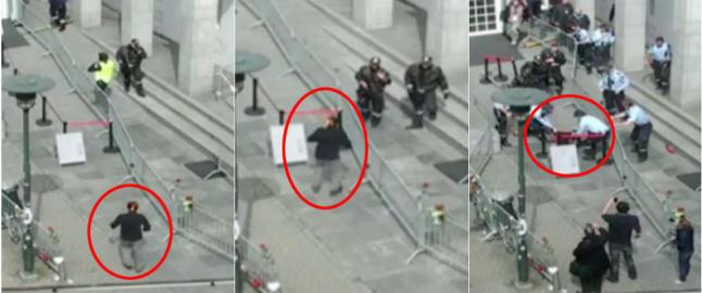 Brant i et minutt f�r politiet kastet seg over ham